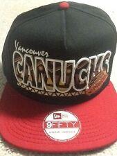 New Era Vancouver Canucks Snapback Hat Black Med-Large