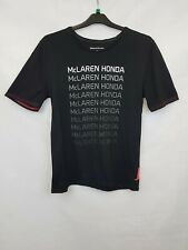 McLAREN HONDA Men's t-shirt cotton black printed size M 002