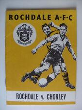Rochdale Teams O-R FA Cup Football Programmes