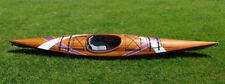 Kayak with stripes 2 15 Ft  Western Red Cedar Handcrafted & Paddle  For 1 person