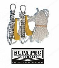 SUPA-Peg Corner Double Guy rope 6mm x 3.5 m Guy rope with trace and springs.