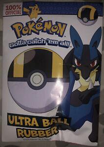 Pokemon Ultra Ball Rubber. Brand New
