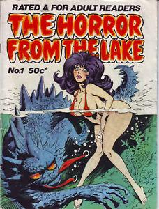 The Horror From The Lake #1 Gredown Publication Australian Ed. Black & White
