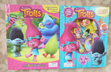 Trolls My Busy Books Set Story 12 Figurines and Stuck on Stories - New