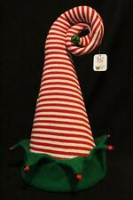 Raz Elf Hat Tree Topper Centerpiece Mantel Christmas Decor Red Stripe Peppermint