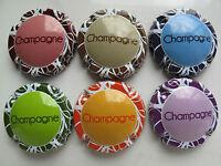 Série de  6 New capsules de champagne Générique  ART CONTEMPORAIN