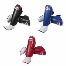 Sandee Kids Thai Boxing Shin Guards Pads Shinguards Blue Red Black Muay Thai