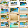 12PCS Floor Non-slip Door Carpet Tropical Beach scenery Bath Mat Bathroom Decor