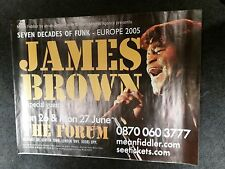 James Brown Europe 2005 Concert Poster Seven Decades Of Funk