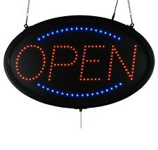 "Led Sign Ultra Bright Open Large Oval Display Light Neon23"" x 14"" Indoor use"