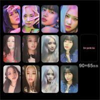 Kpop Blackpink How You Like That Photocard Jennie Lisa Slef Made Autograph Cards
