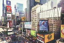 Times Square New York City Broadway, Mamma Mia, Spider-Man, Lion King - Postcard