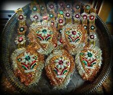 Amazing Handmade Indian Zardosi Embroidery Garlands Christmas Decorations Vtg
