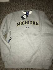 Michigan Wolverines Gray Nike Crew Coach Pullover Sweatshirt XXL
