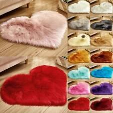 Heart Shaped Soft Fluffy Rugs Anti-Skid Shaggy Area Rug Bedroom Carpet Floor Mat