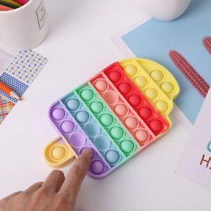 Push Pop Bubble Sensory Stress Relief Fidget Kids Game it Silicone Toy Autism /3