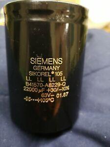 Kondensator Siemens Sikorel 105 - 22000 u F  /  63 V