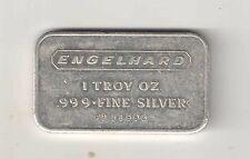 Rare Engelhard Horizontal 1 Troy oz .999 Fine Silver Bullion Bar Ingot