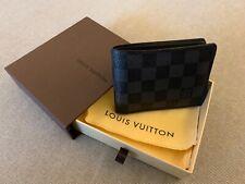 Authentic Louis Vuitton Multiple Wallet Damier Graphite Canvas