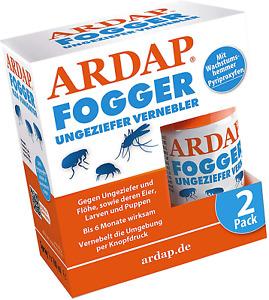 ARDAP Fogger 2 x 100ml Effektiver Vernebler zur Ungeziefer & Flohbekämpfung 30m²