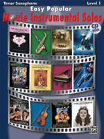 Easy Popular Movie Solos (tenor sax/CD); Various, Saxophone and piano - 28150