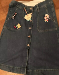 Little Bird By Jools Oliver Adult Ladies Maternity Denim Over Bump Skirt Size 8