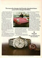 1975 Original Advertising' Rolex Watch Datejust Porsche Heinz Stephan Cikerle