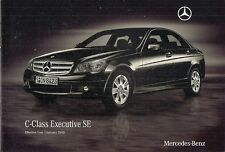 Mercedes-Benz C-Class Executive SE 2010 UK Market Sales Brochure Saloon Estate