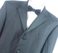 Pinstripe Mens Black Dinner Suit Jacket 44 Chest (Regular)