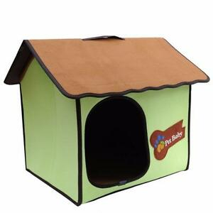 Pet Roop House Dog Cat Foldable Bed Kennel Mat Cushion Pad Puppy Zipper Locked