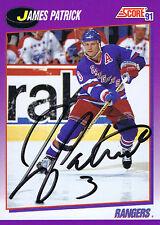 JAMES PATRICK SIGNED 1991 SCORE RANGERS CARD AUTO ~AUTHENTIC