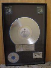 NATALIE COLE UNFORGETTABLE WITH LOVE RIAA PLATINUM AWARD