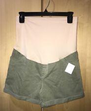 MATERNITY Shorts Green Women MIDI STRETCH 3 Way Style Sz XXL Liz Lange Maternity