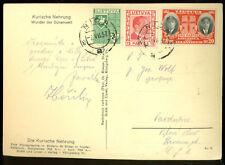 LITHUANIA NIDA 1937 POSTAL CARD to CZECHOSLOVAKIA KURISCHE NEHRUNG RPPC SAND
