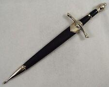 Beautiful Polished Steel Sword Letter Opener & Sheath Home/Office/Desk/Gift NEW