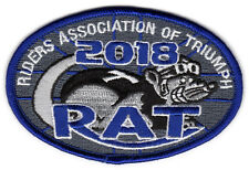 2018 Riders Association of Triumph Motorcycles RAT Patch Badge