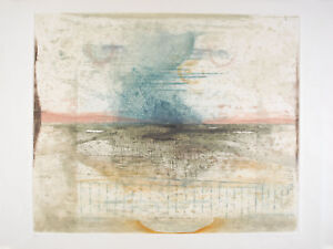 "Rene CARCAN s/n Etching Aquatint Le vent du Nord (Receuil ""Bonjour Brel"") 1975"