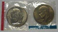 1976-P and 1976-D T1 Gem BU Eisenhower Ike Dollars in Original Mint Cello Packs