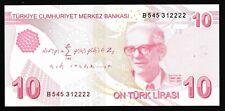More details for turkey - 10 lira - unc - 2012 - p223b - maths - 9th emission fancy serial: 2222