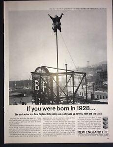 Life Magazine Ad 1963 NEW ENGLAND LIFE AD