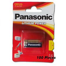 100 Panasonic CR123 123A DL123 123 CR-123APA/1B 3V Lithium Battery FRESH 2026