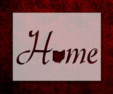 "Ohio State Home Love 8.5"" x 11"" Stencil FAST FREE SHIPPING (701)"