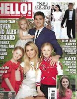 Hello Magazine Steven and Alex Gerrard Kim Kardashian Kanye West Kate Middleton