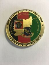 2-504 PIR, 82nd Airborne, Operation Enduring Freedom 2005-2006 Coin F19