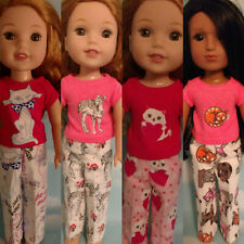 """14.5"""" Doll Pajamas fits American Girl Wellie Wishers Doll Clothes 356wabcd"""