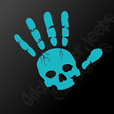 Skull wave vinyl decal / sticker - any color! Jeep car truck