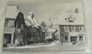 Postkarte Zella-Mehlis 1965 DDR Thüringen Kirchstraße Zella Pkw Lkw Winter