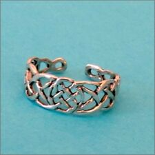 TOE RING STERLING SILVER 925 CELTIC KNOT ADJUSTABLE FOOT JEWELRY WOMEN MIDI GIRL