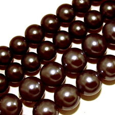 MAGNETIC HEMATITE JEWELRY BEADS DARK CHOCOLATE BROWN 4MM ROUND CB2