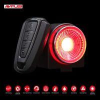 Road Bike Anti-theft Alarm Lock Automatic Brake Cycling Taillight Remote Control